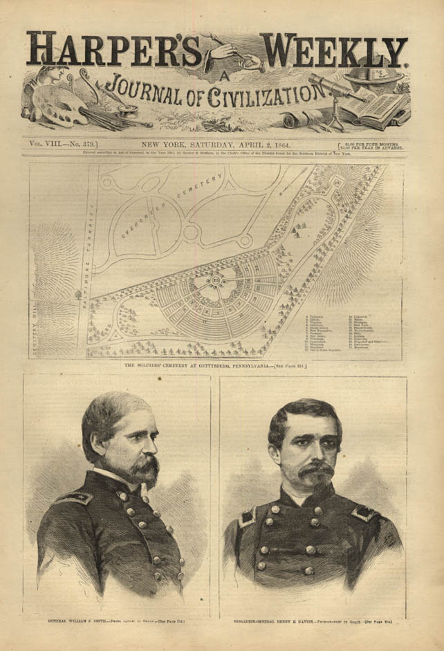 Image for HARPER'S WEEKLY page 4/2 1864 Gen William P Smith Henry E Davies by Mathew Brady