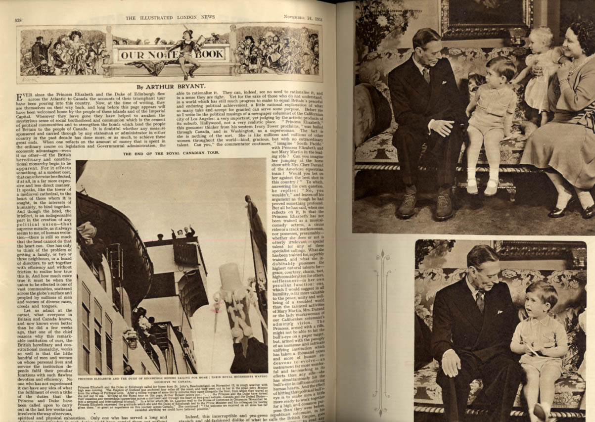 Image for ILLUSTRATED LONDON NEWS 11/24 1951 Princess Elizabeth Royal Home-Coming