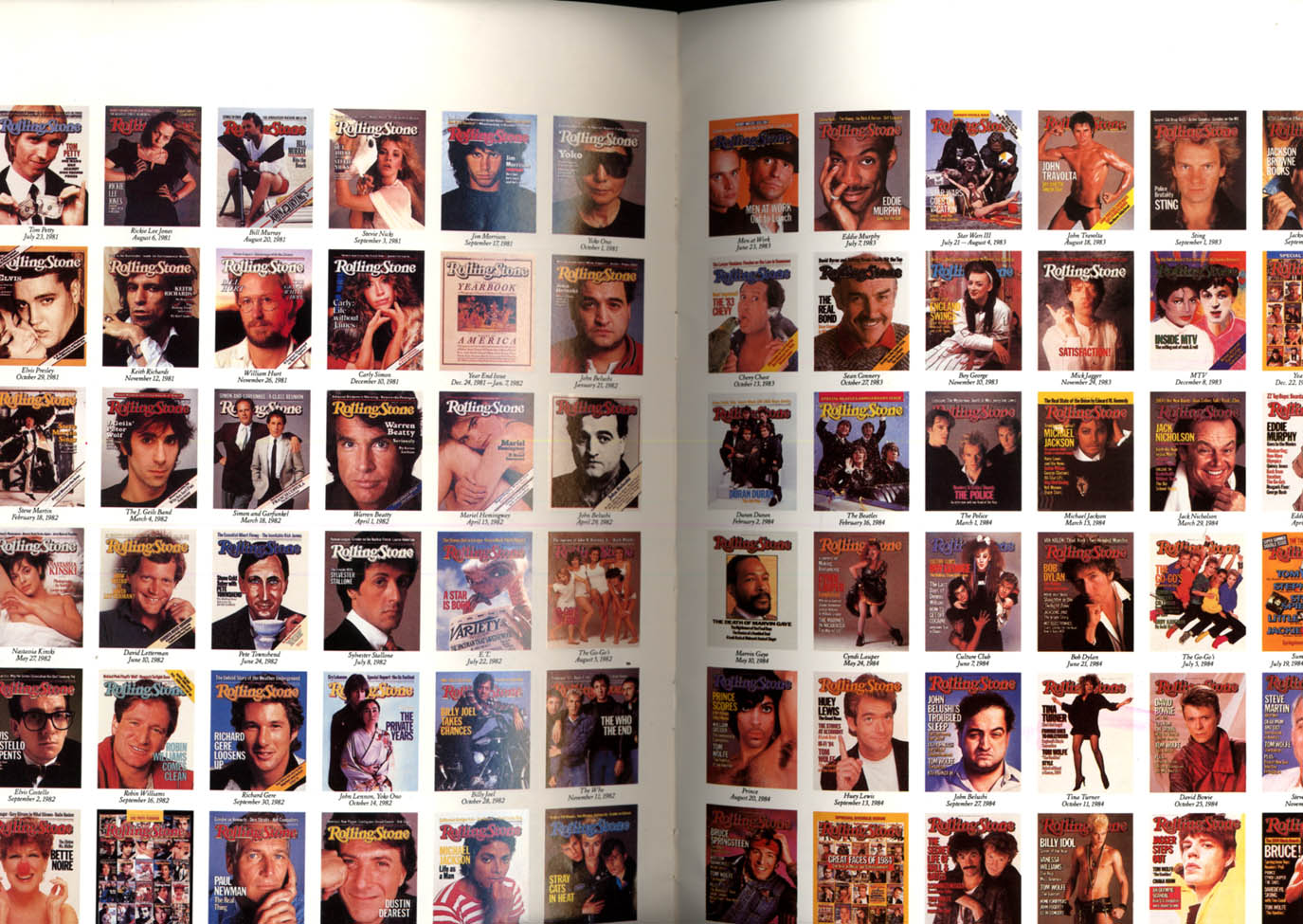 Image for Rolling Stone pictorial It's been twenty years 1987 showing all covers