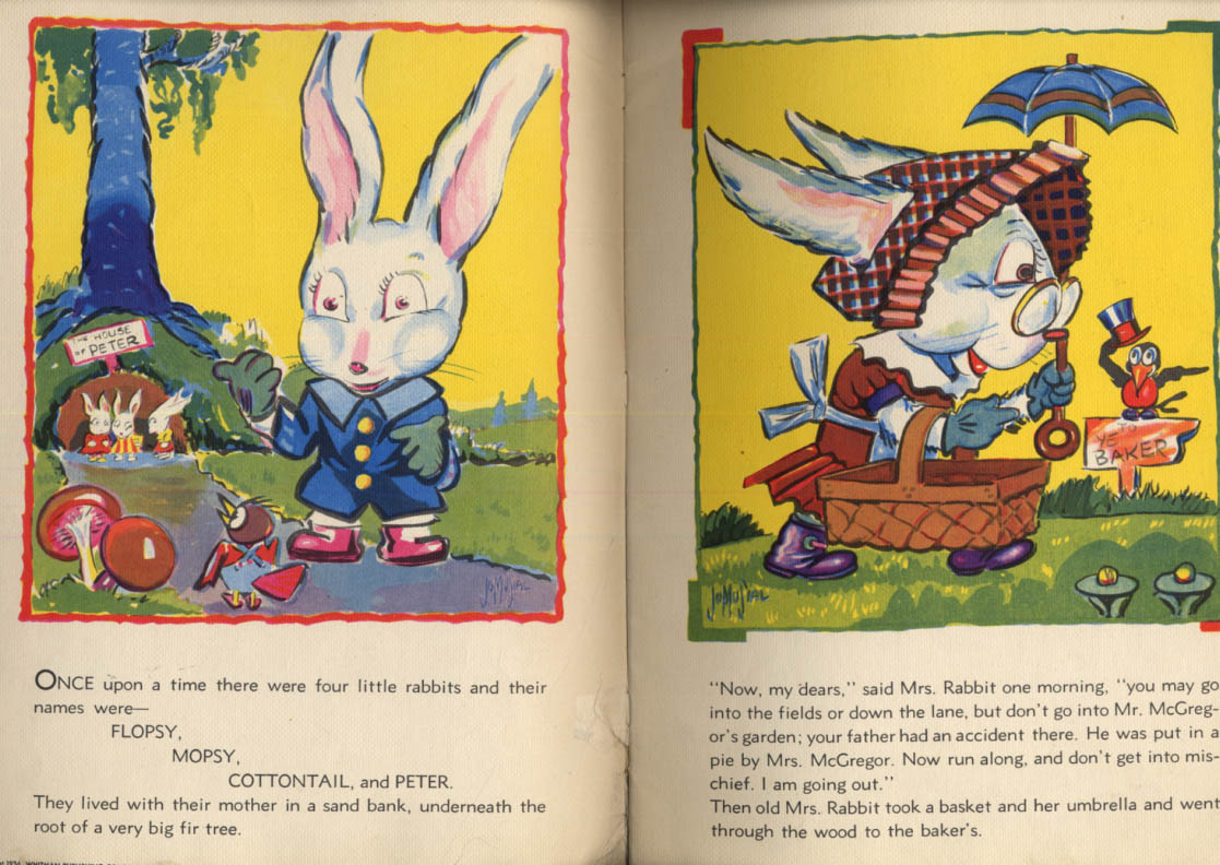 Image for Beatrix Potter: Peter Rabbit linen-like storybook Jo Musial 1936