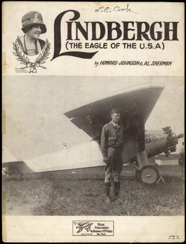 Image for Lindbergh The Eagle of the USA sheet music 1927