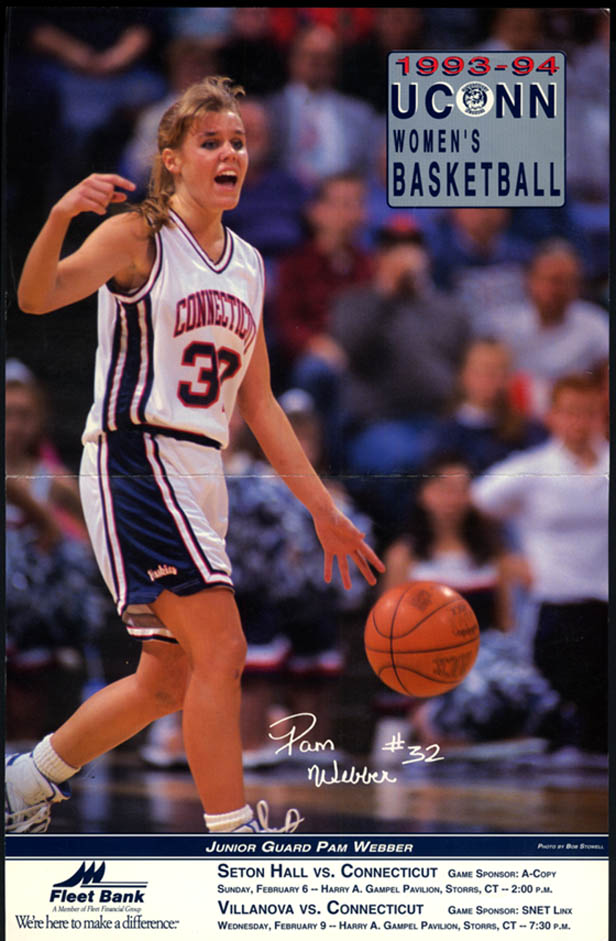 Image for UCONN Women's Basketball vs Seton Hall & Villanova program Pam Webber 1994