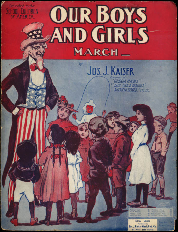 Image for Our Boys And Girls March sheet music Uncle Sam 1903