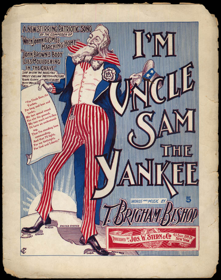 Image for I'm Uncle Sam the Yankee by T Brigham Bishop sheet music 1896