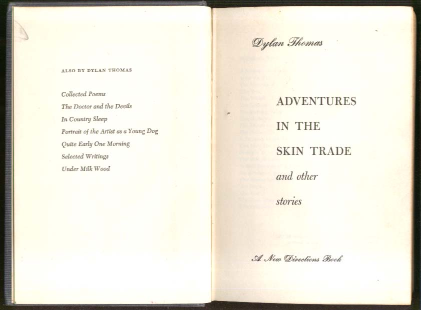 Image for Dylan Thomas Adventures in the Skin Trade 1st US 1955