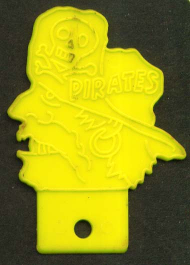 Image for Pittsburgh Pirates plastic bicycle badge 1950s