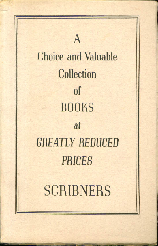 Image for Scribners catalog #101 1st editions, sets +