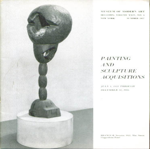 Image for MOMA Painting Sculpture Acquisitions 1955 - 1956