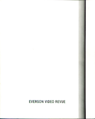 Image for Everson Video Review exhibition catalog 1979