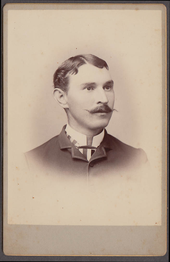 Image for Charley McCarthy wax mustache cabinet by Langill Darthmouth NH 1880s
