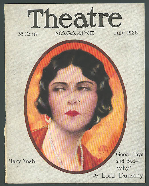 Image for Mary Nash: Theatre Magazine 7/1928 cover