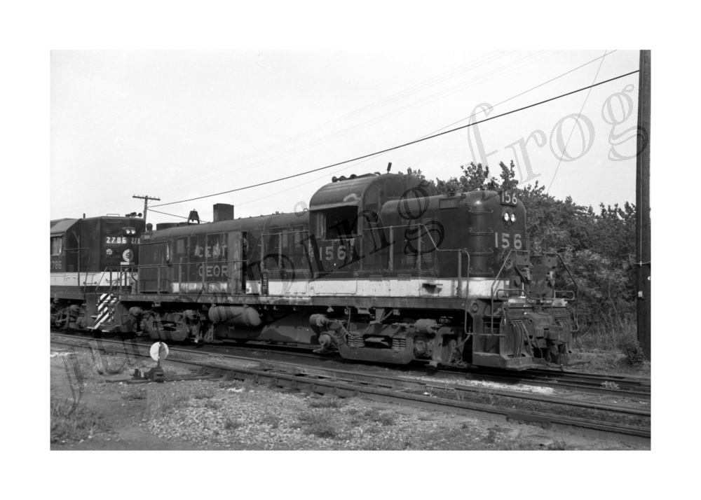Image for Central of Georgia diesel locomotive #156 5x7