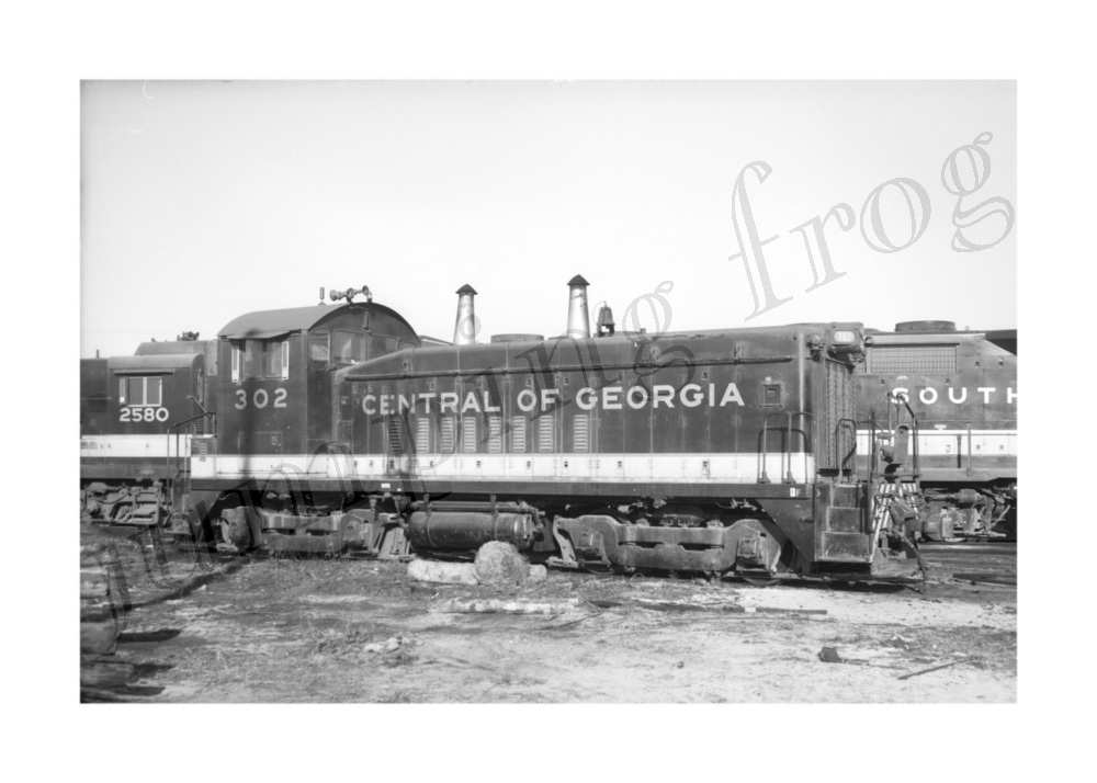 Image for Central of Georgia diesel locomotive #302 5x7