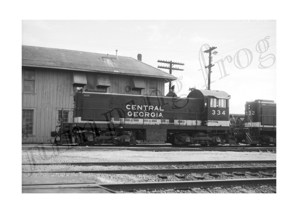 Image for Central of Georgia diesel locomotive #334 5x7