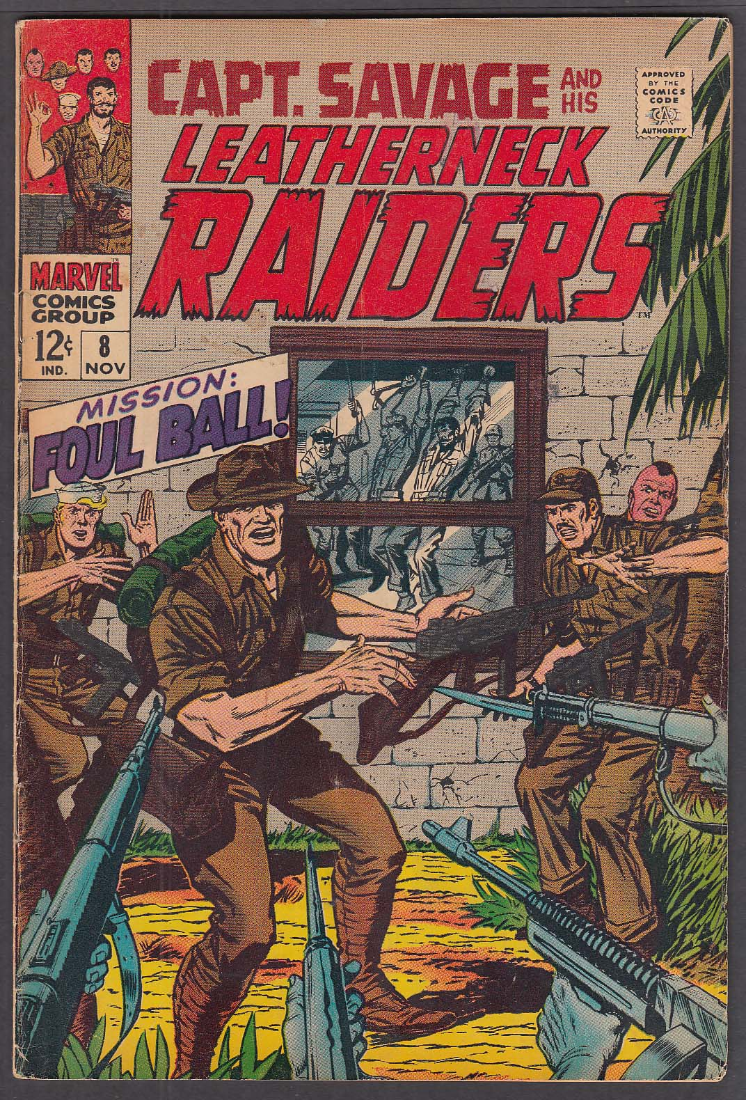 Image for CAPT SAVAGE & His Leatherneck RAIDERS #8 Marvel comic book 11/1968