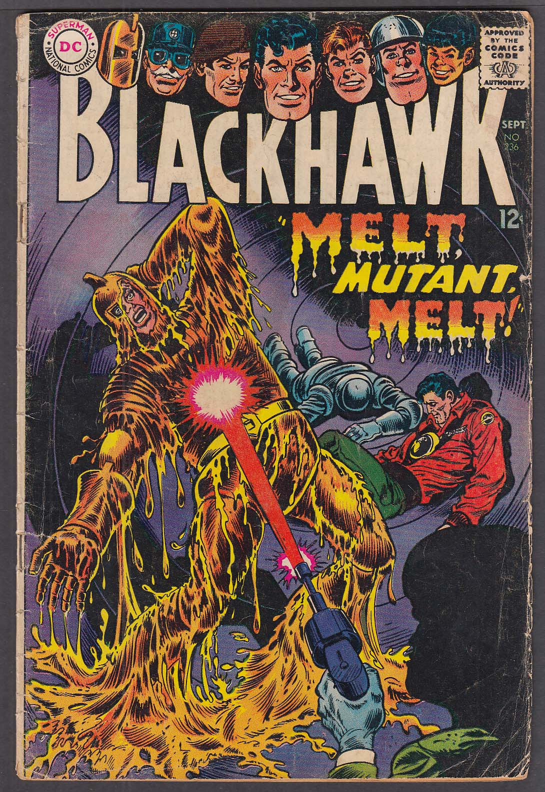 Image for BLACKHAWK #236 DC comic book 9/1967