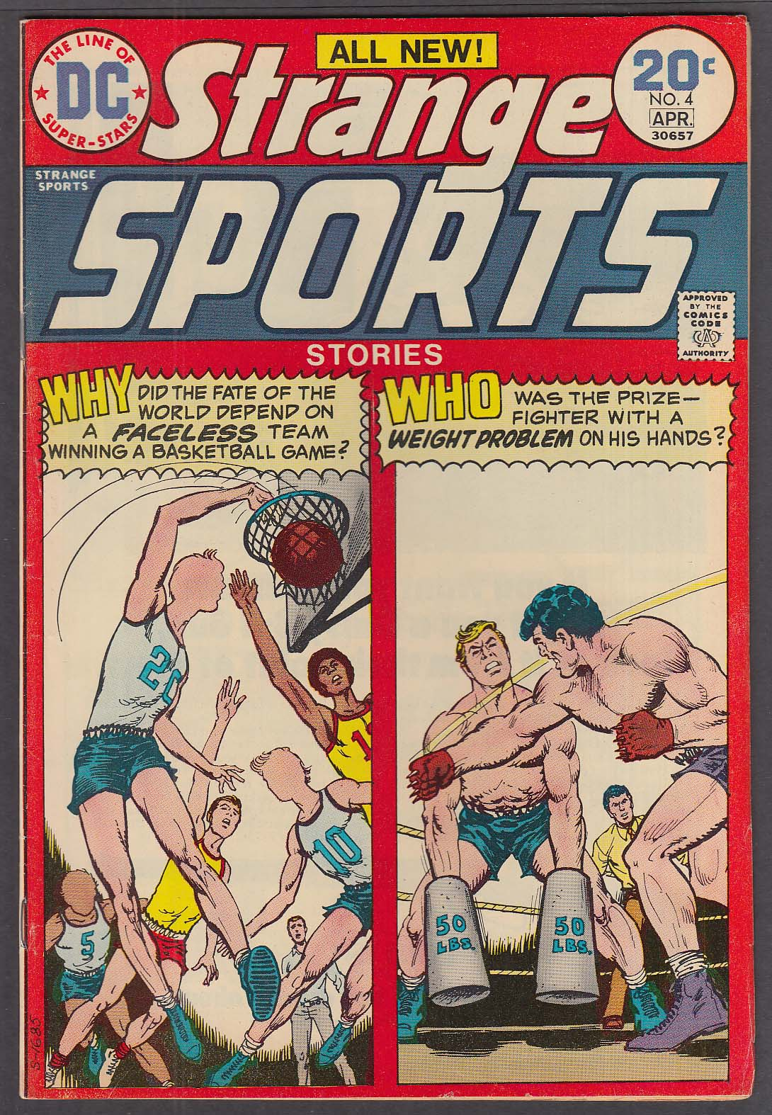 Image for STRANGE SPORTS STORIES #4 DC comic book 3-4/1974