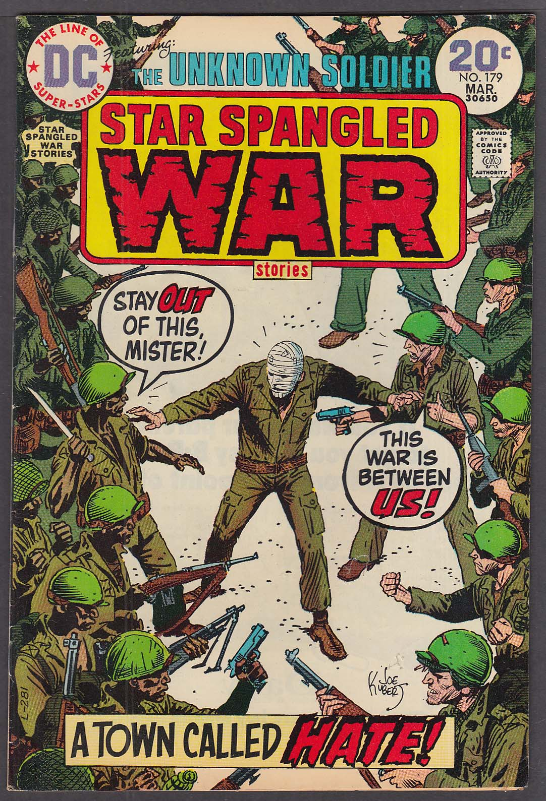 Image for STAR SPANGLED WAR STORIES #179 Unknown Soldier DC comic book 3/1974