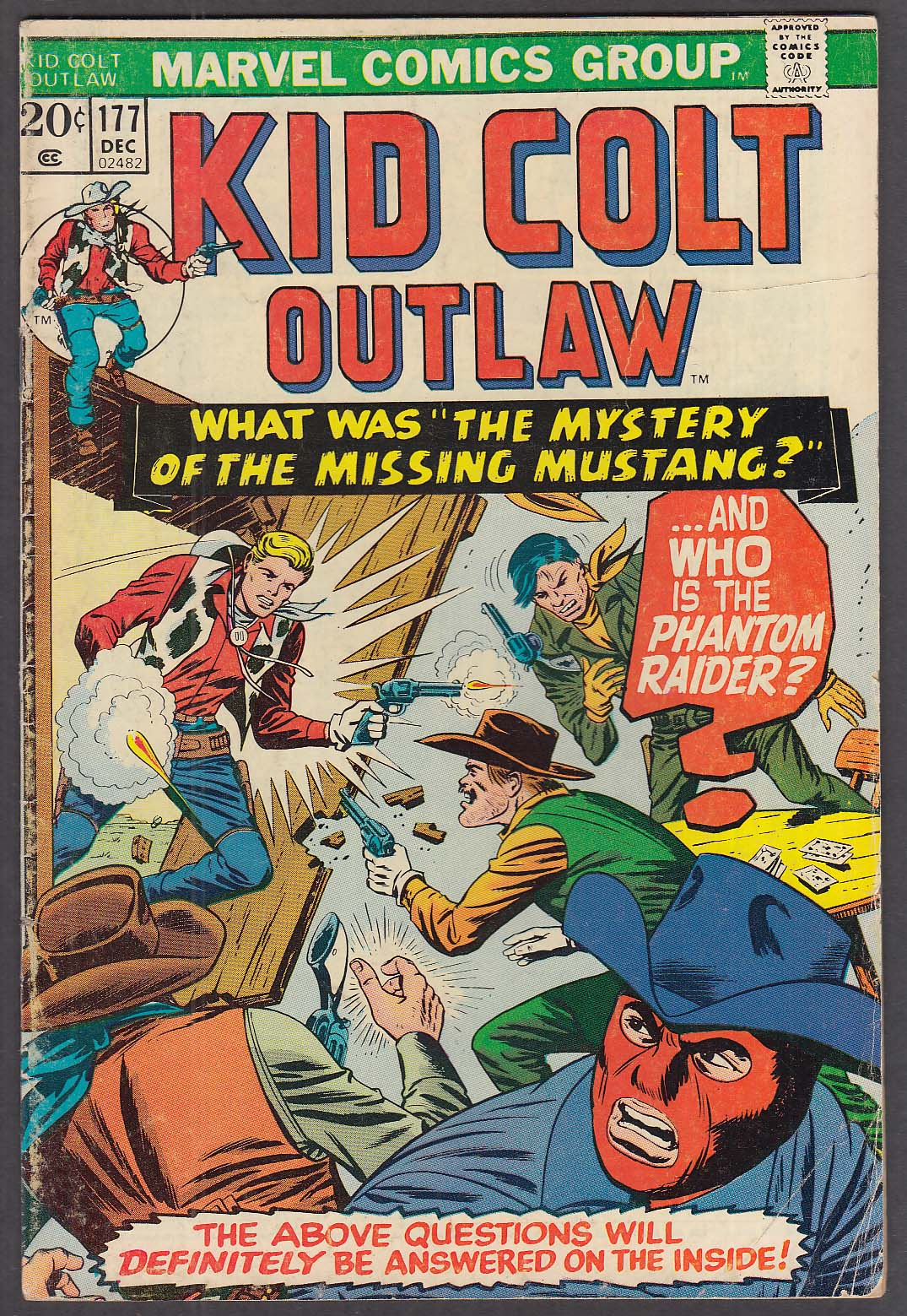Image for KID COLT OUTLAW #177 Marvel comic book 12/1973