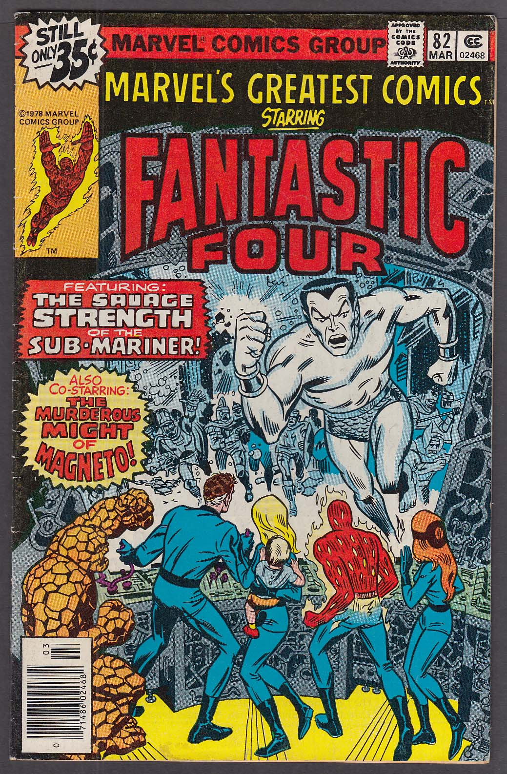 Image for MARVEL'S GREATEST COMICS #82 Fantastic Four comic book 3 1979