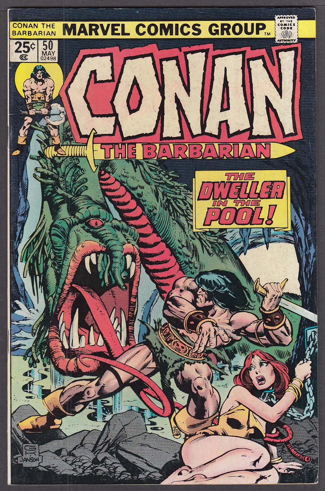 Image for CONAN the BARBARIAN #50 Marvel comic book 5 1975