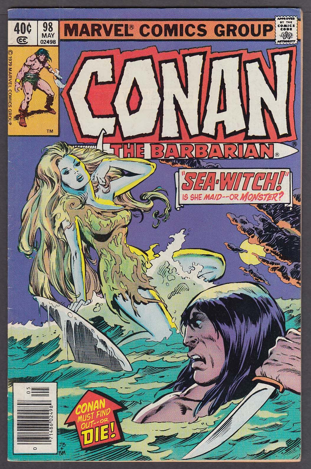 Image for CONAN the BARBARIAN #98 Marvel comic book 5 1979