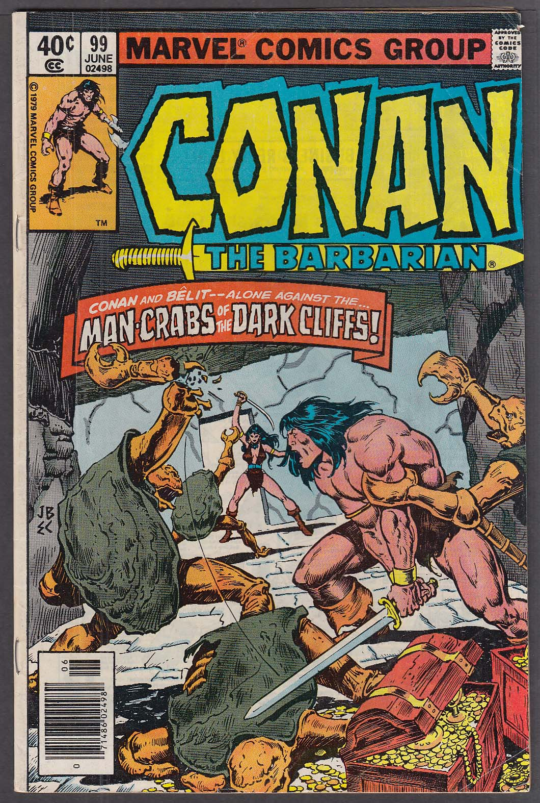 Image for CONAN the BARBARIAN #99 Marvel comic book 6 1979
