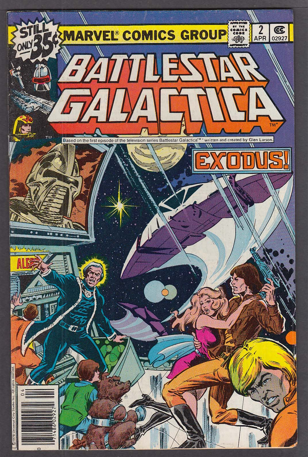 Image for BATTLESTAR GALACTICA #2 Marvel comic book 4 1979