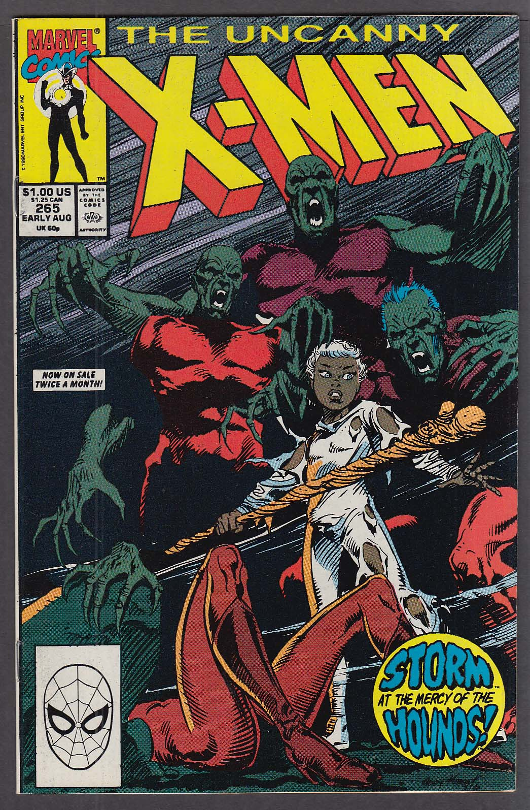 Image for UNCANNY X-MEN #265 Marvel comic book Early 8 1990