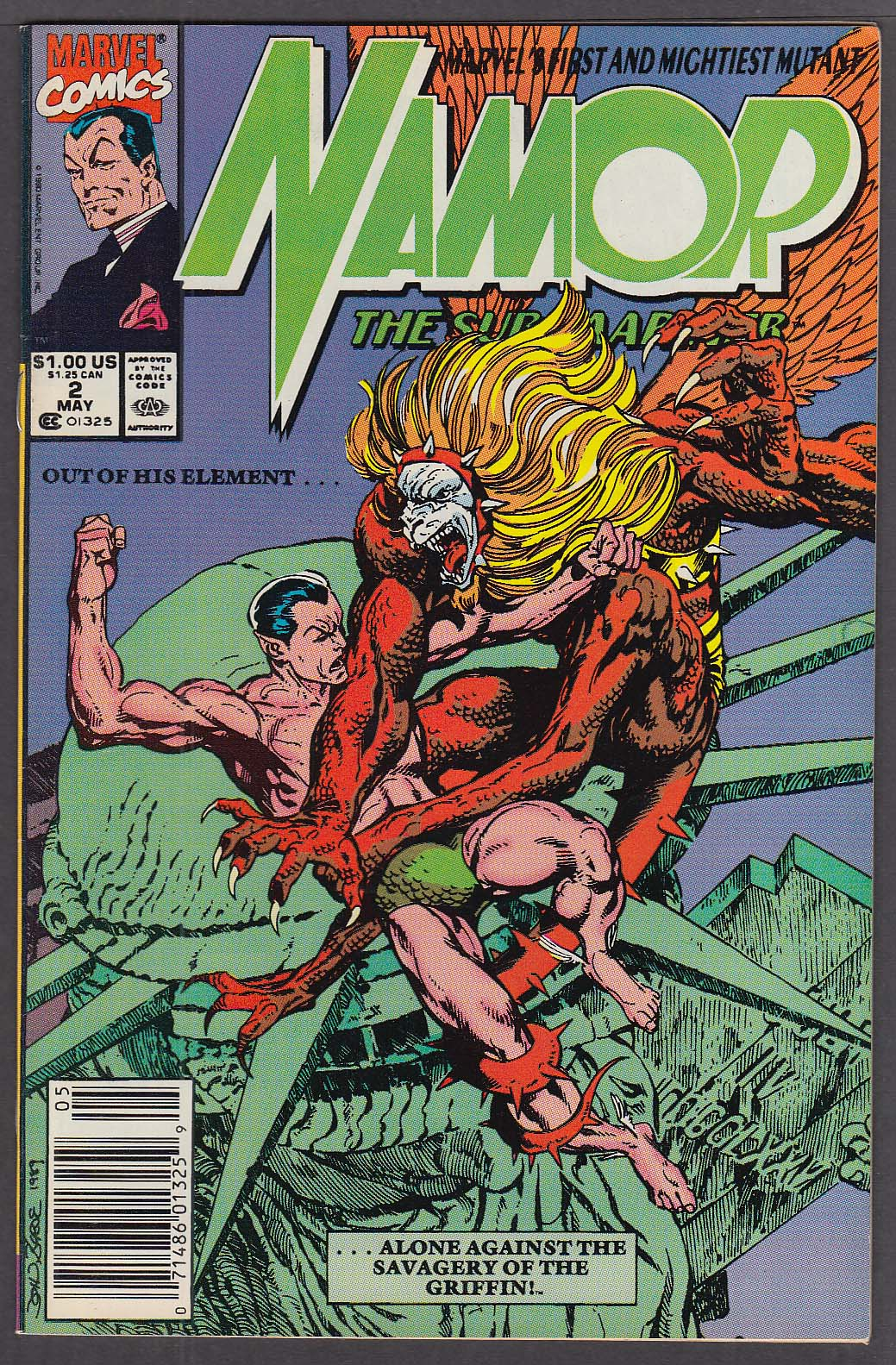 Image for NAMOR the Sub-Mariner #2 Marvel comic book 5/1990