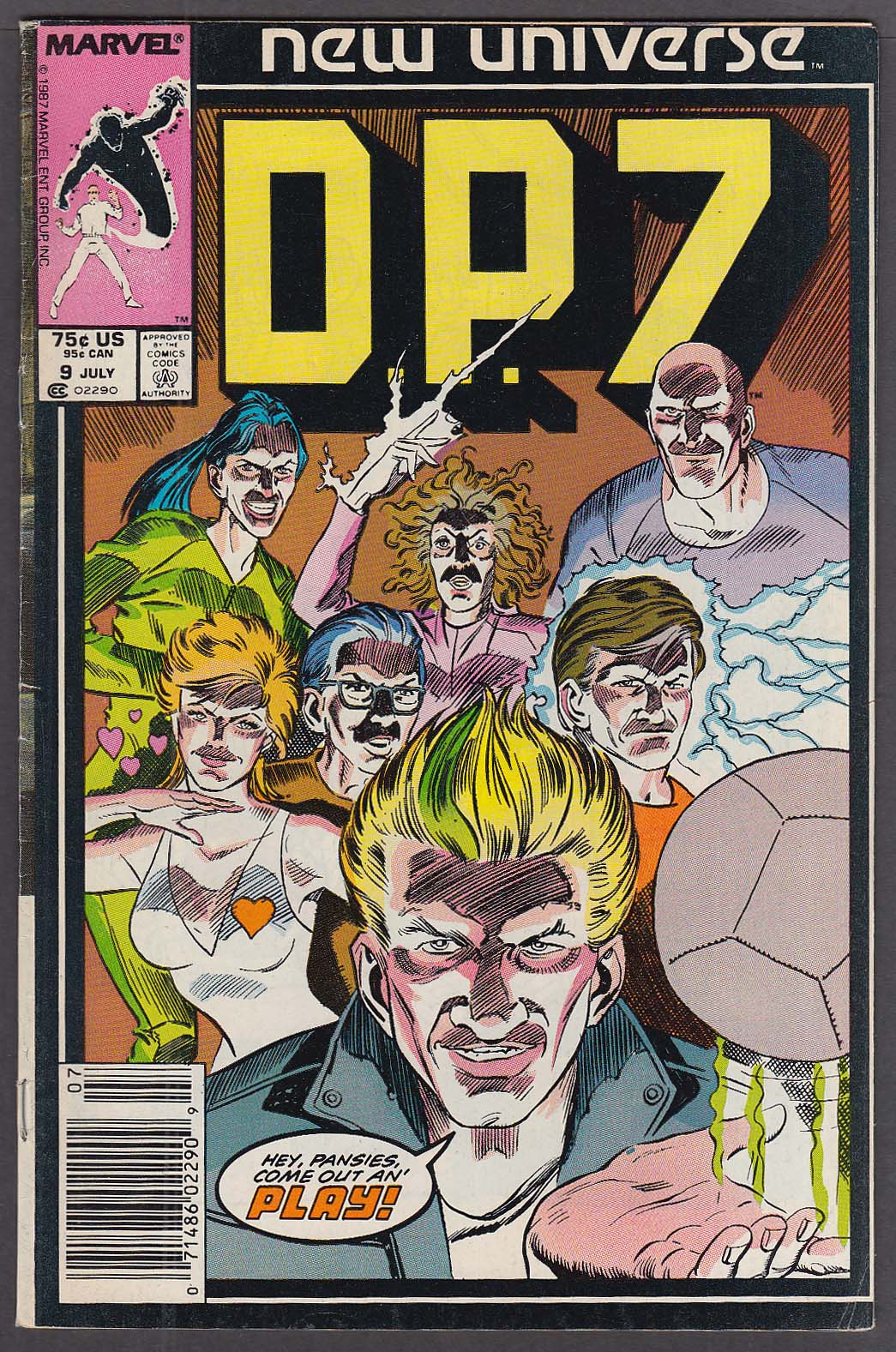 Image for D. P. 7 #9 Marvel New Universe comic 7 1987