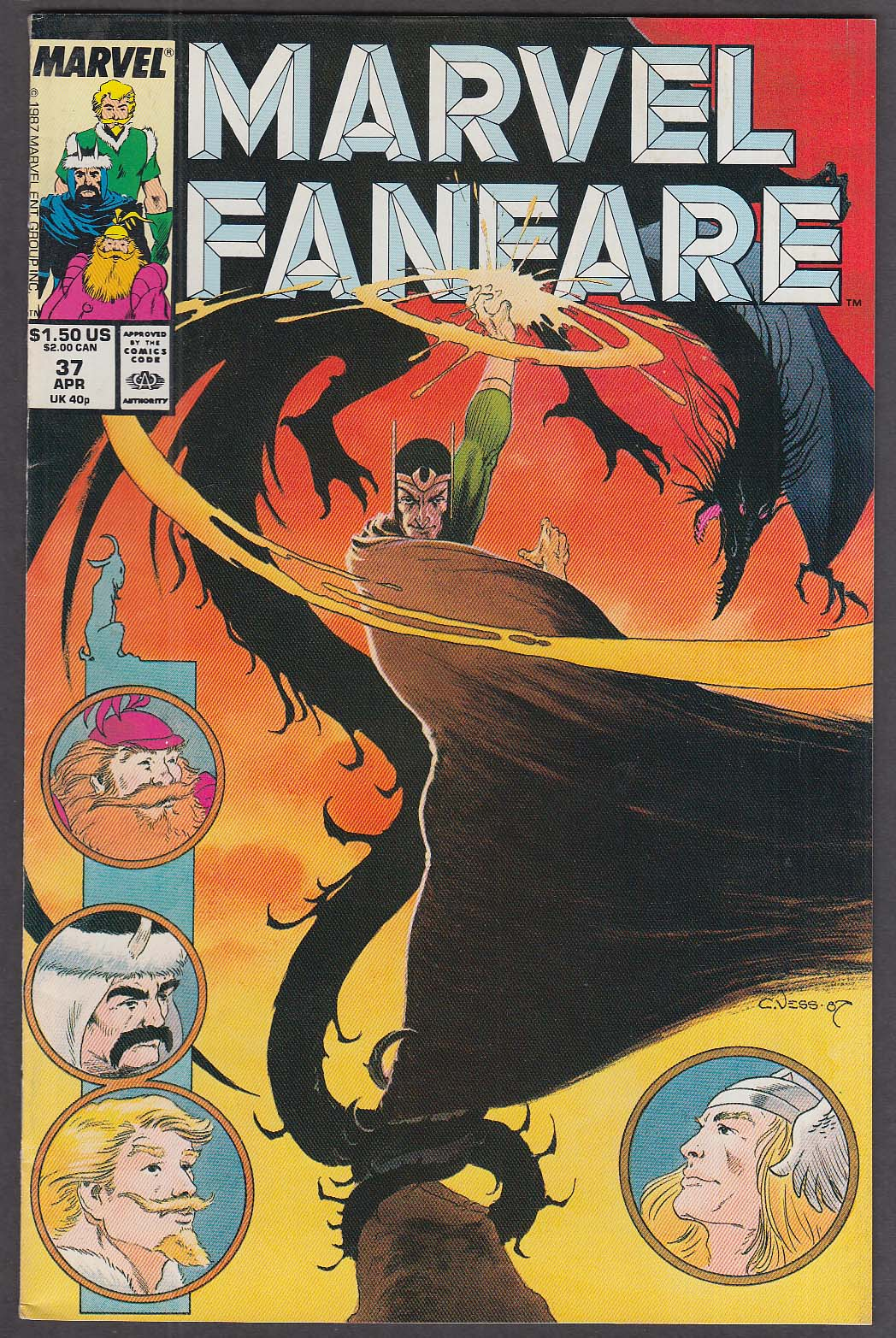 Image for MARVEL FANFARE #37 comic book 4 1988