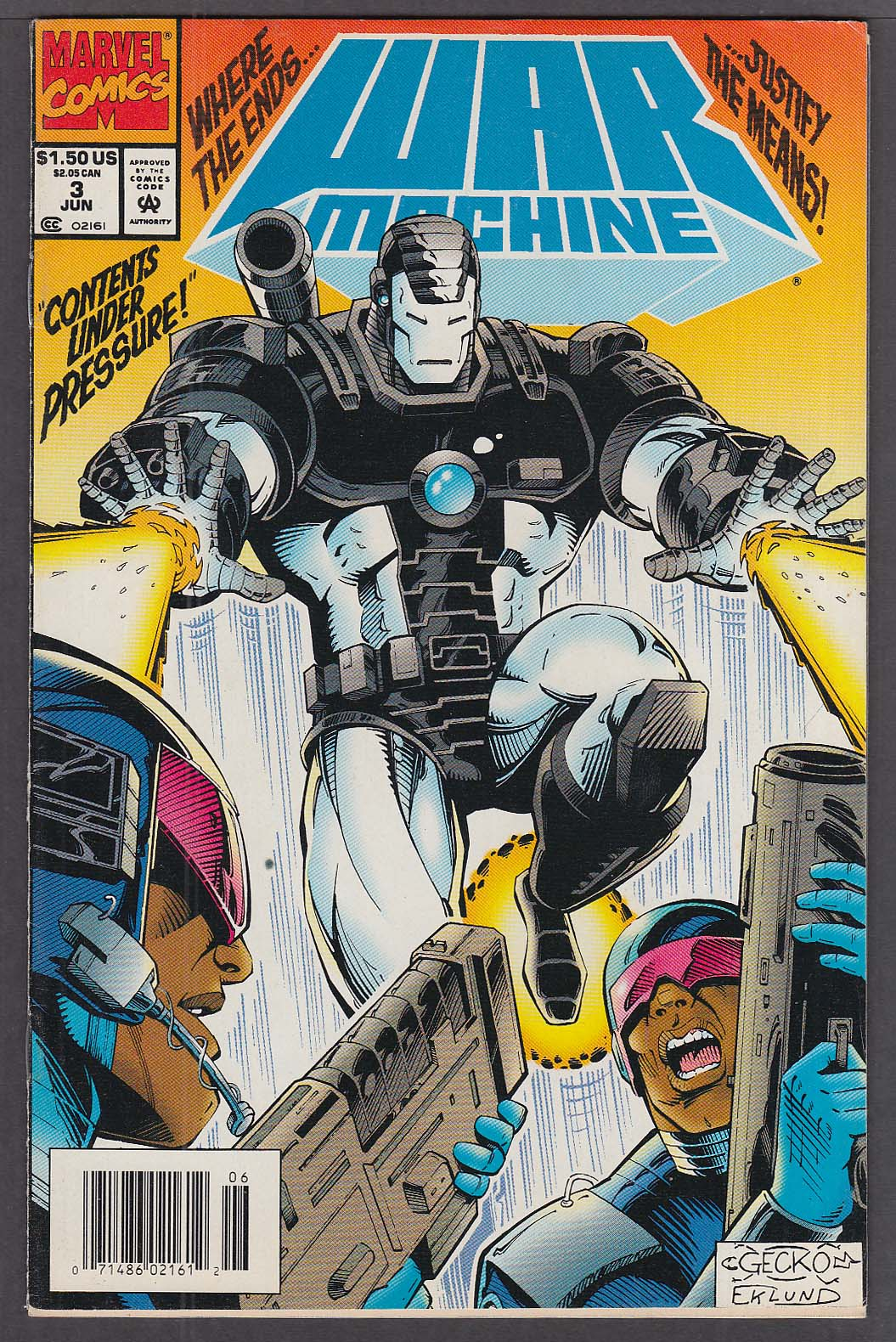 Image for WAR MACHINE #3 Marvel comic book 6/1994