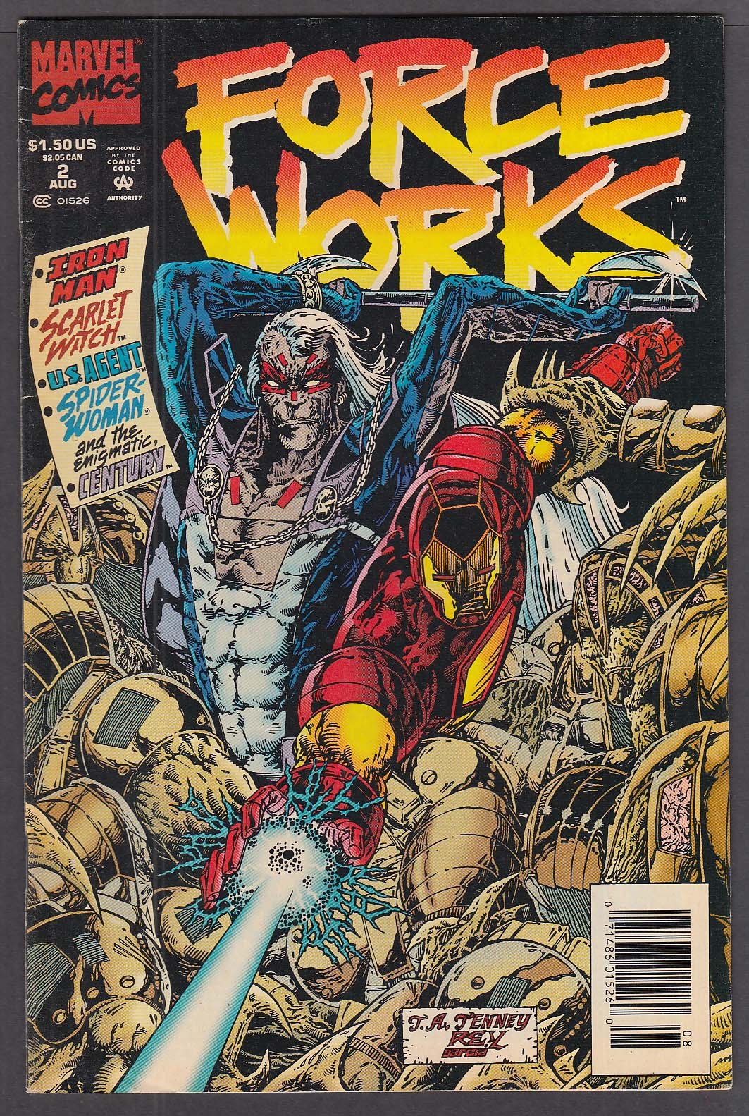 Image for FORCE WORKS #2 Marvel comic book 8/1994 Iron Man