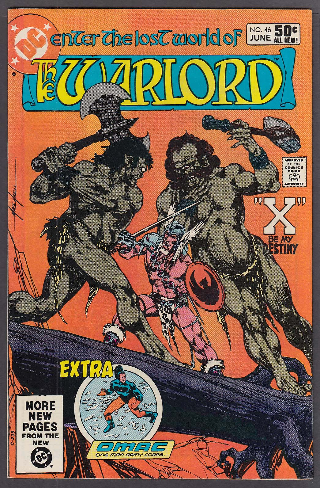 Image for WARLORD #46 DC comic book 6 1981