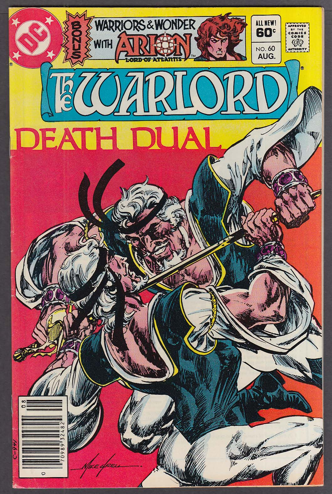 Image for WARLORD #60 DC comic book 8 1982