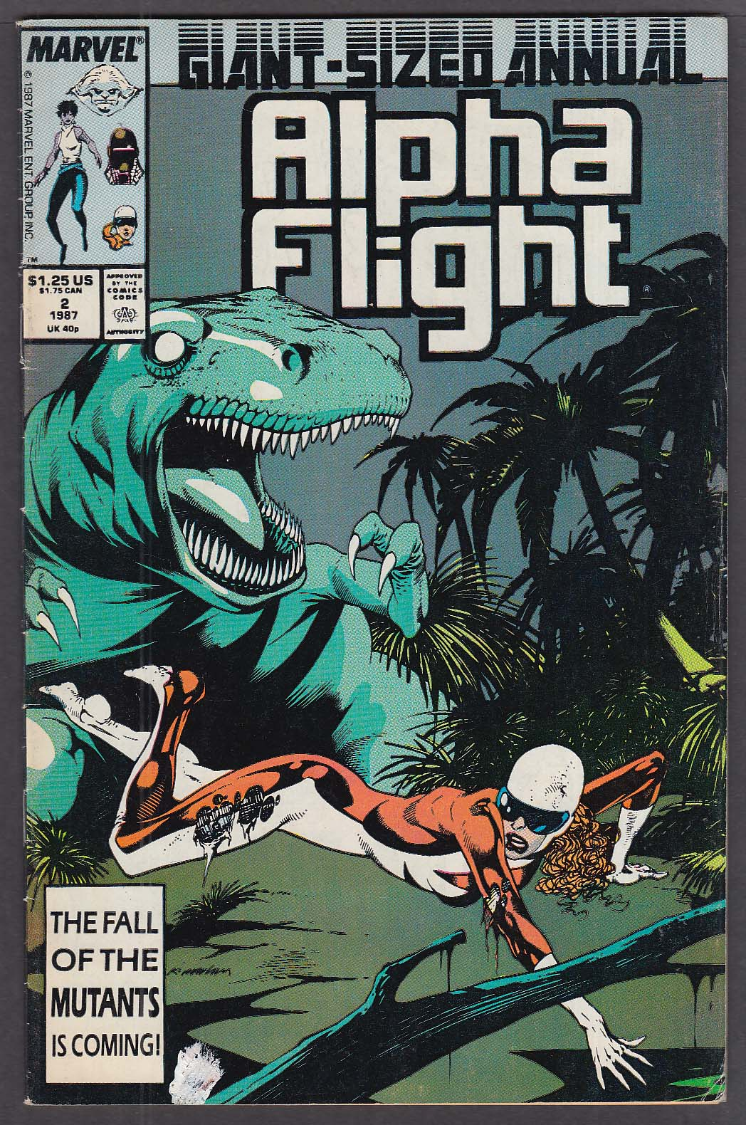 Image for ALPHA FLIGHT ANNUAL #2 Marvel comic book 1987