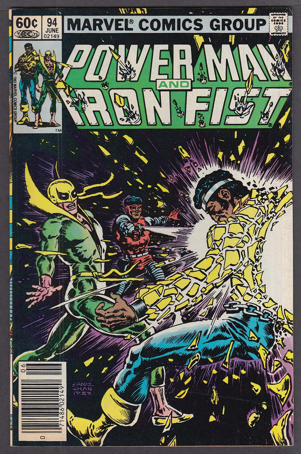 Image for POWER MAN & IRON FIST #94 Marvel comic book 6 1983