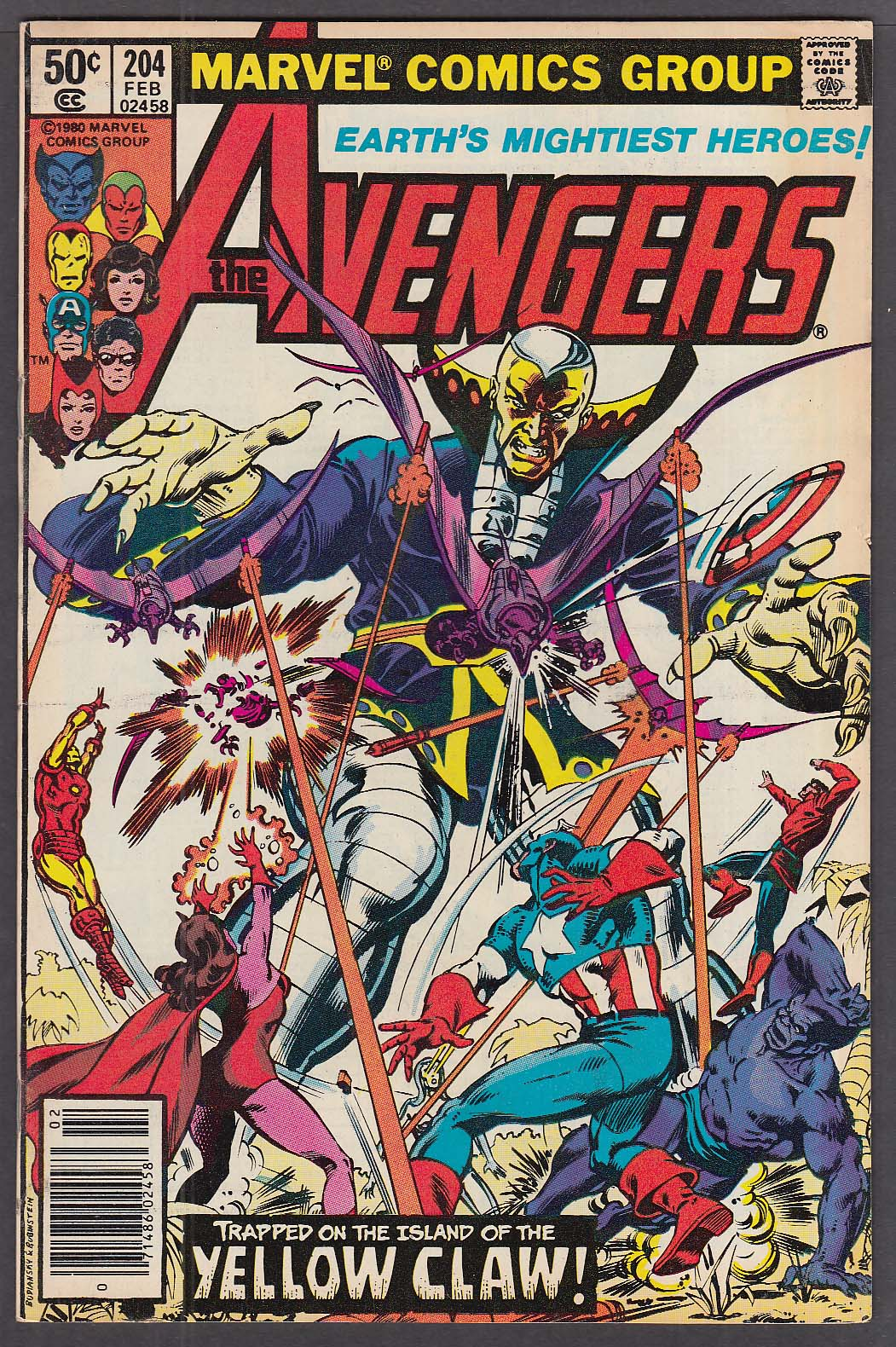 Image for The AVENGERS #204 Marvel comic book Captain America 2 1981