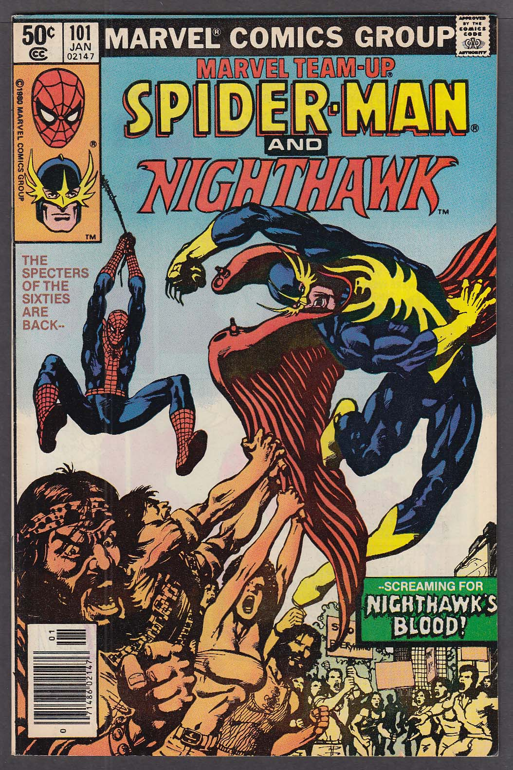 Image for MARVEL TEAM-UP #101 Spider-Man & Nighthawk comic book 1 1981