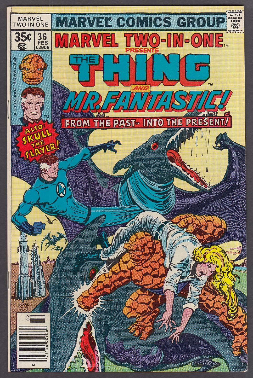 Image for MARVEL TWO-IN-ONE #36 The Thing Mr Fantastic comic book 2 1978