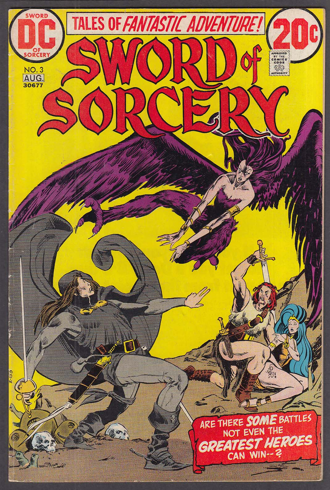 Image for SWORD of SORCERY #3 DC comic book 7-8/1973