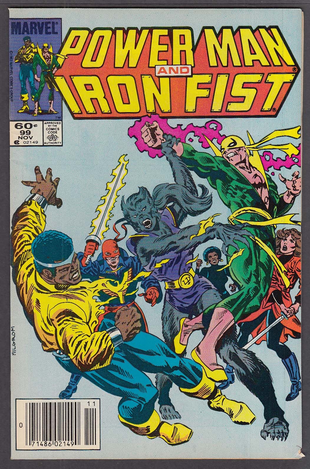 Image for POWER MAN & IRON FIST #99 Marvel comic book 11 1983