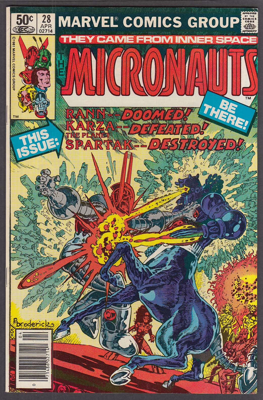 Image for MICRONAUTS #28 Marvel comic book 4/1981