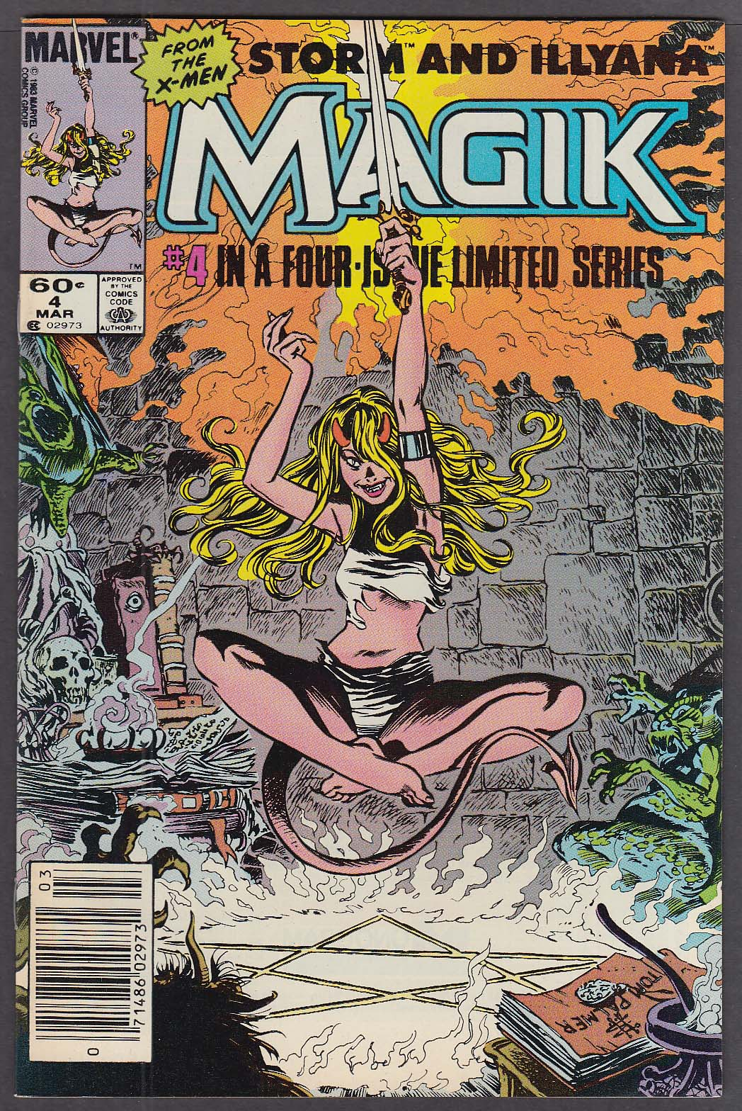 Image for MAGIK #4 Storm & Illyana Marvel comic book 3/1984