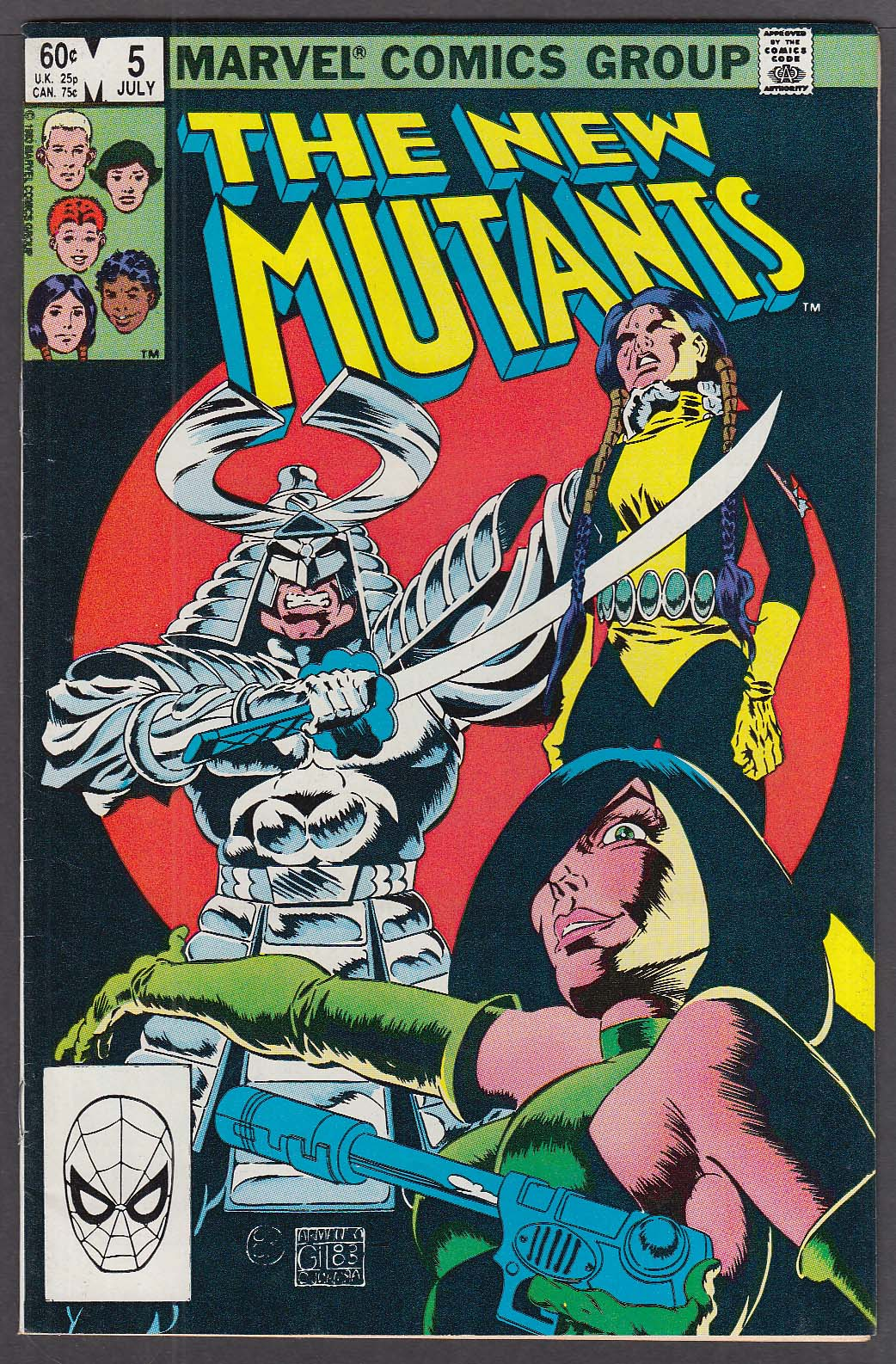 Image for The NEW MUTANTS #5 Marvel comic book 7 1983