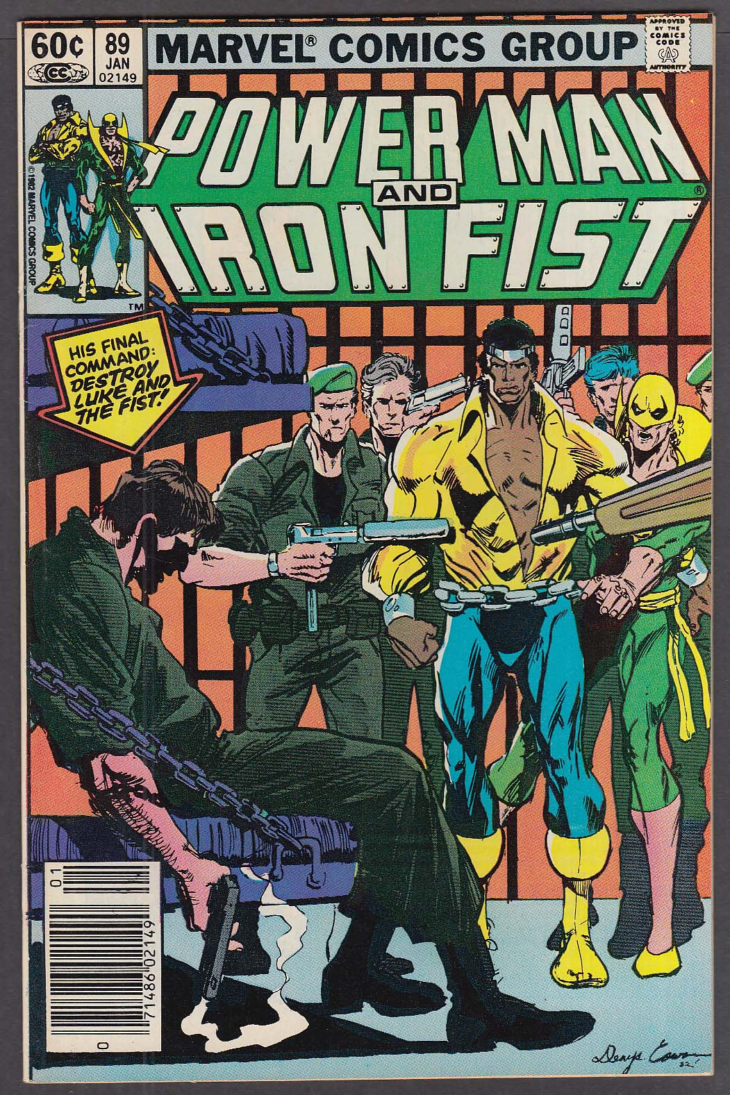 Image for POWER MAN & IRON FIST #89 Marvel comic book 1 1983