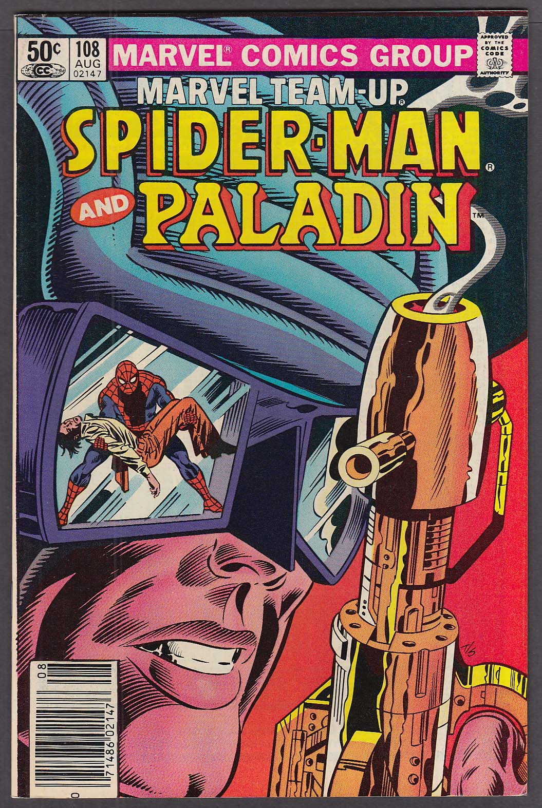 Image for MARVEL TEAM-UP #108 Spider-Man & Paladin comic 8 1981