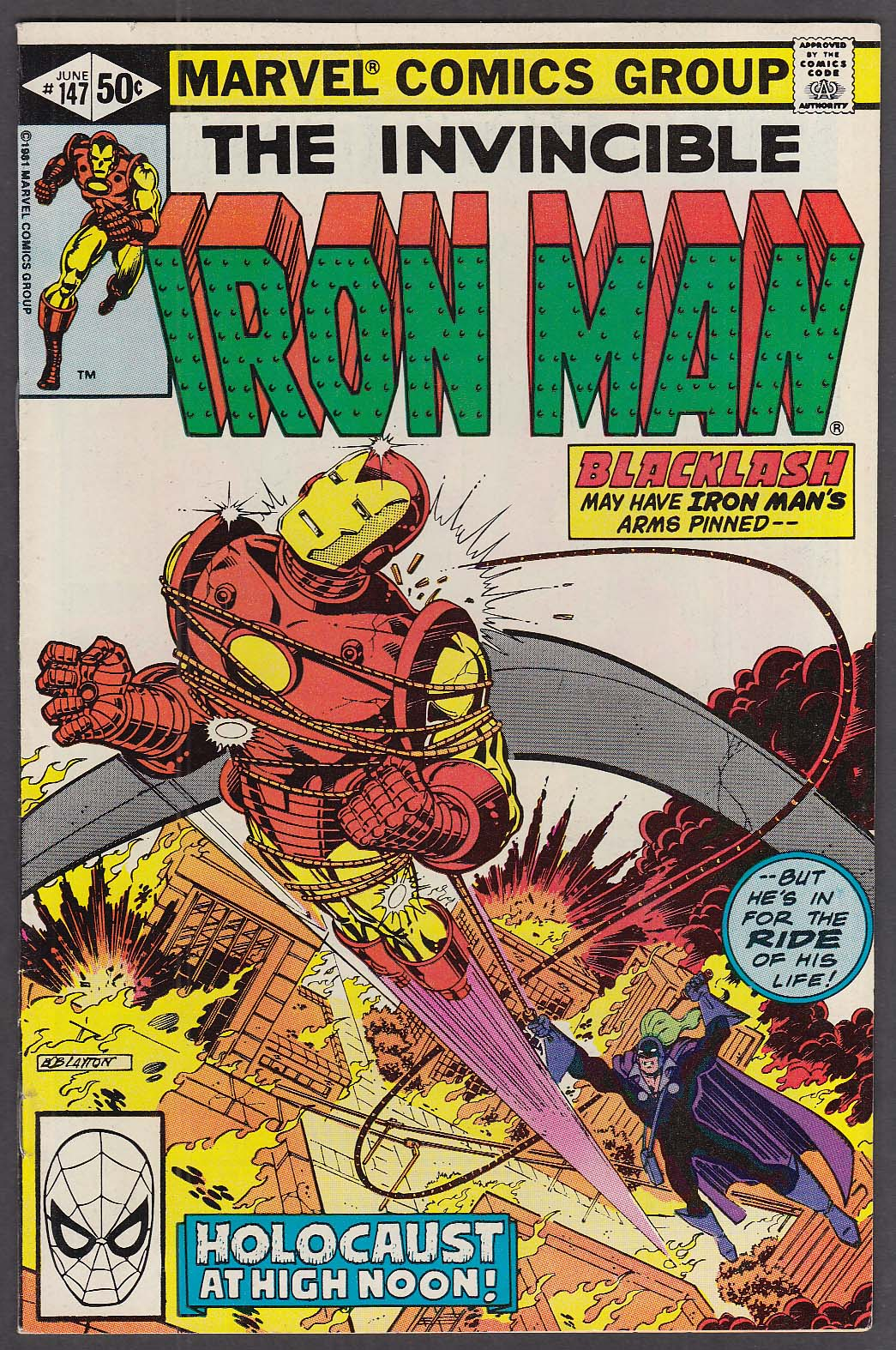 Image for INVINCIBLE IRON MAN #147 Marvel comic book 6 1981