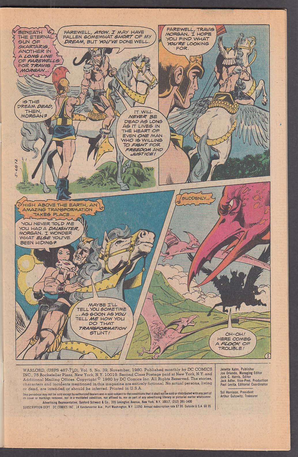 Image for WARLORD #39 DC comic book 11 1980